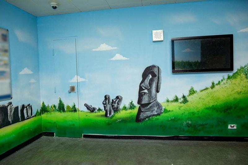 Aku Tongariki hand painted mural