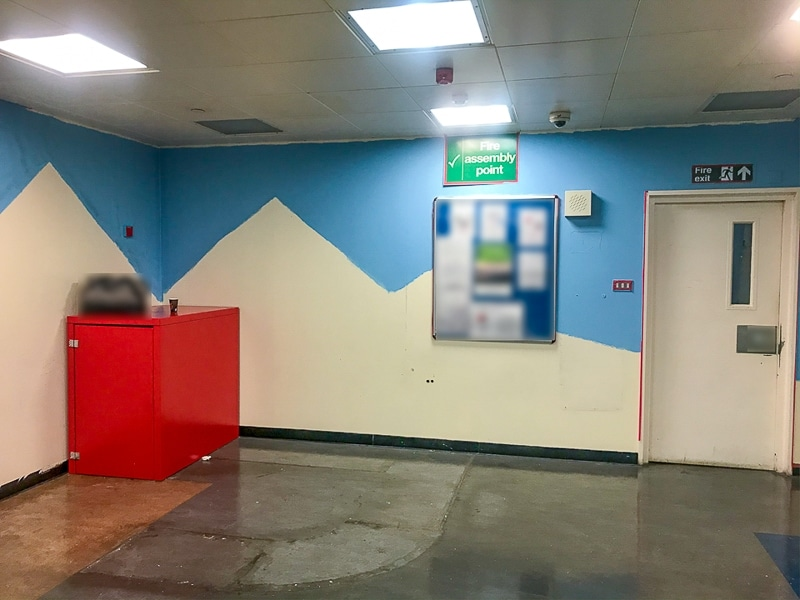 First day painted pyramids mural