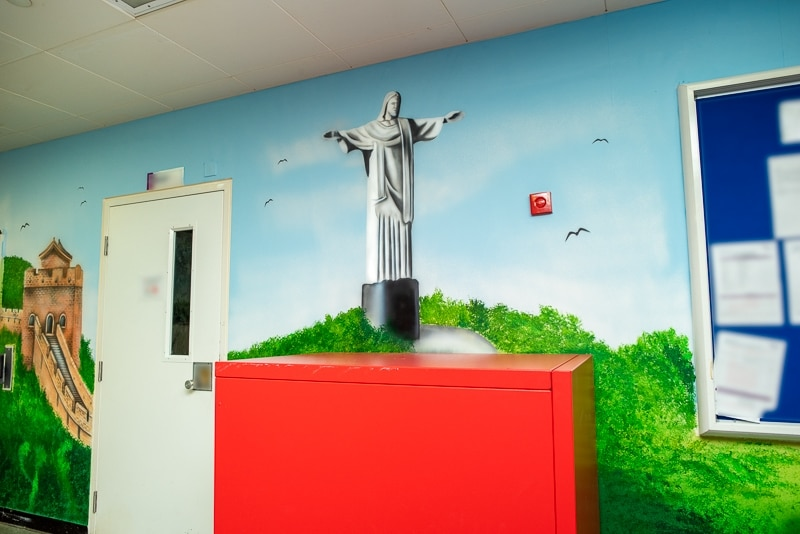 Jesus from Rio De Janeiro wall mural