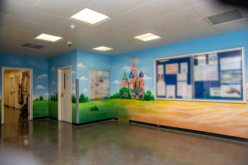 Saint Basil's Cathedral on Moscow wall mural