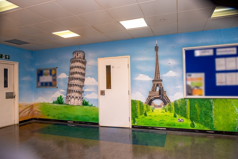 Office commercial murals