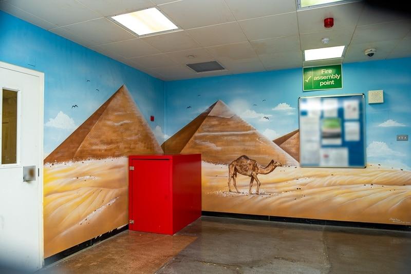 Great pyramids wall mural