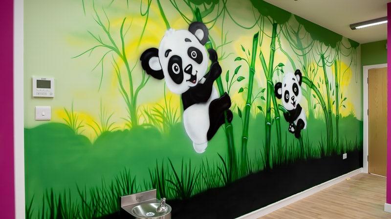big panda mural