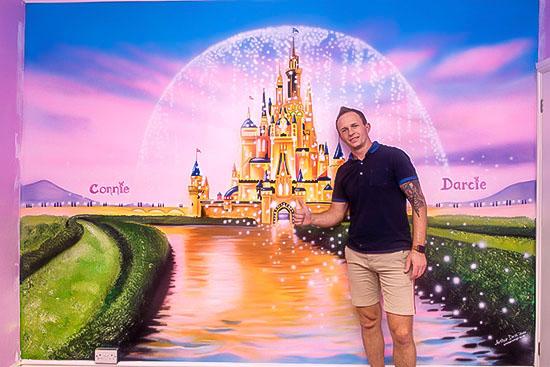 Disney Castle mural prices