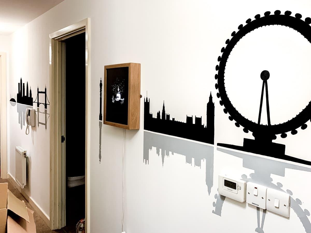 Hand Painted Murals - London Skyline