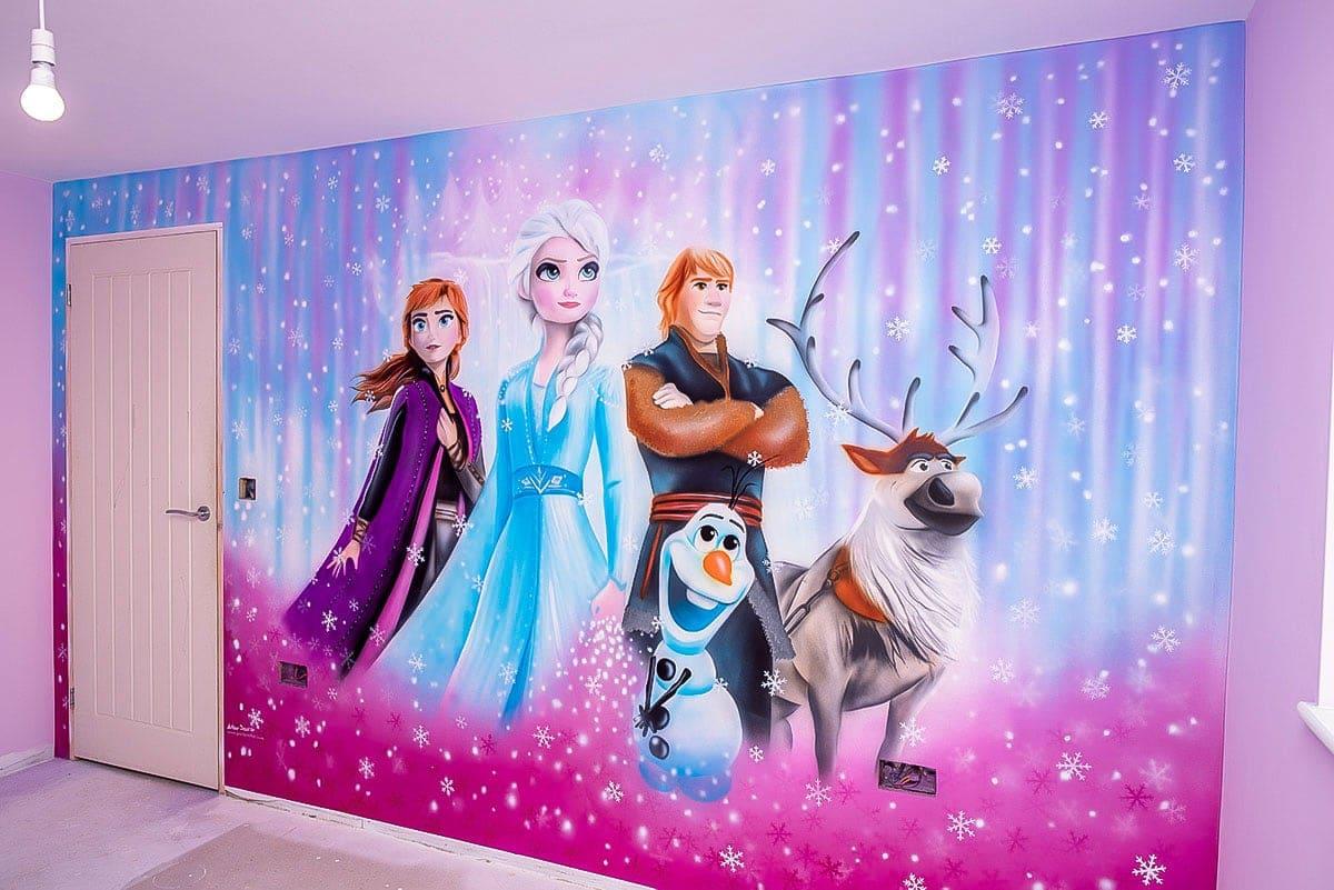 Frozen - Girls Bedroom Mural