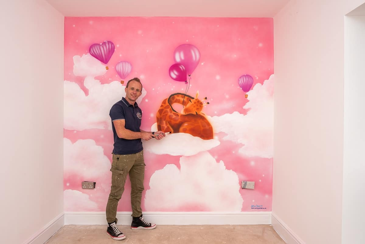Beauriful mural for baby with Mural Painter