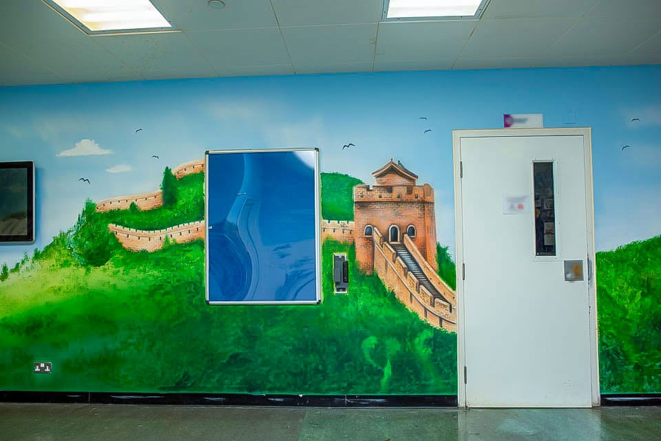 The Great Wall of China mural