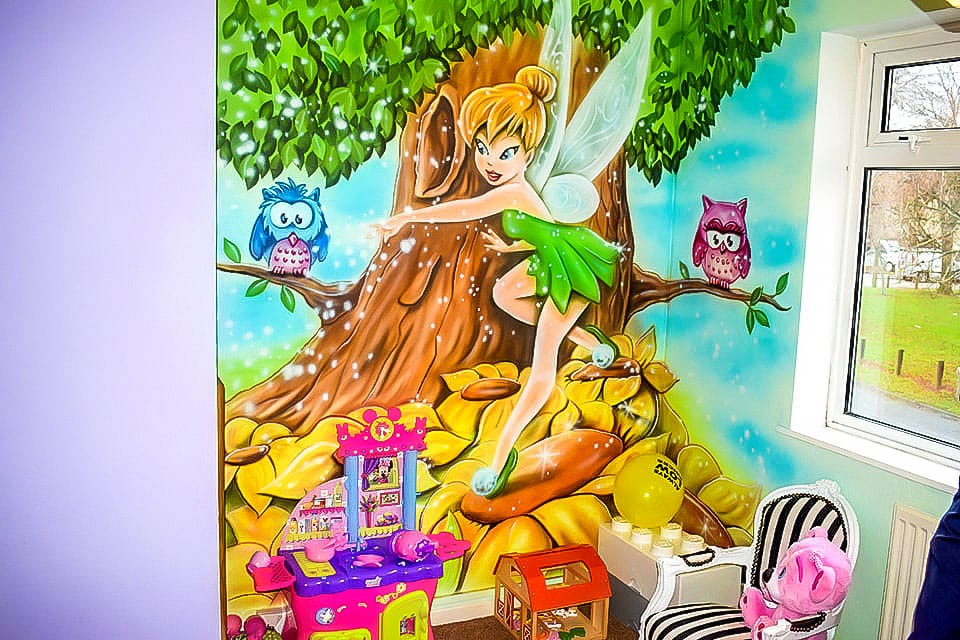 Girls bedroom mural - Tinkerbell