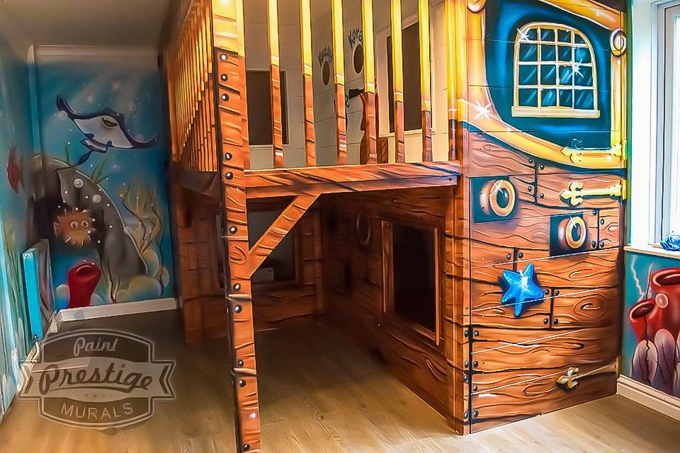 Pirates ship mural