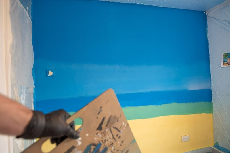 Hand Painted Background for Wall Mural