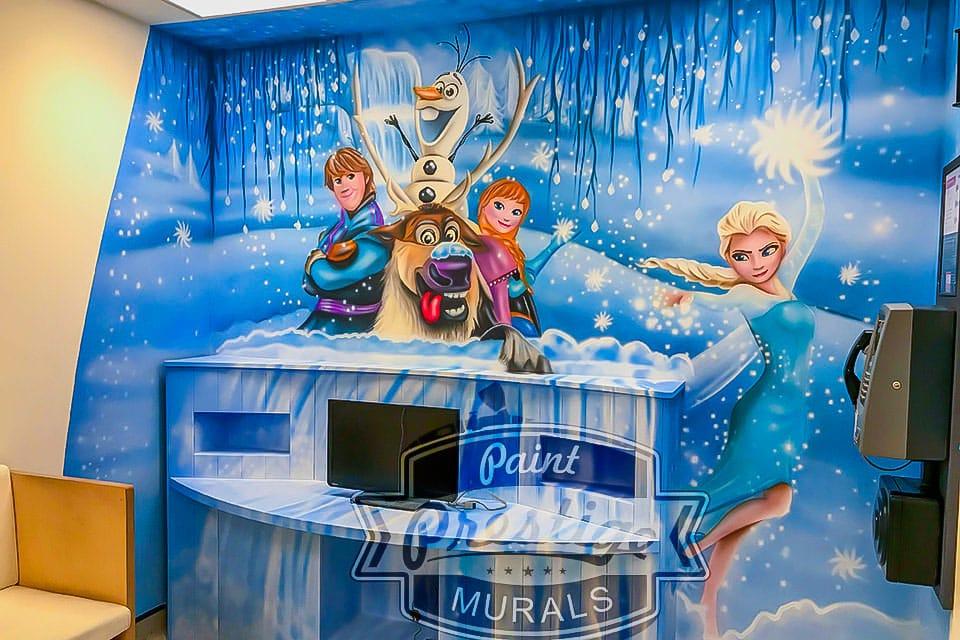 Beautiful Frozen hand painted mural