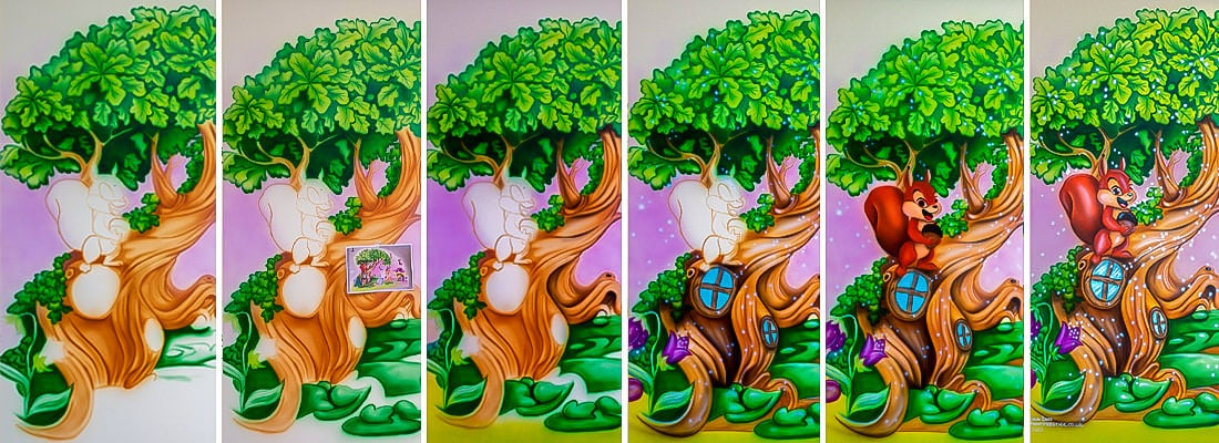 mural painting process