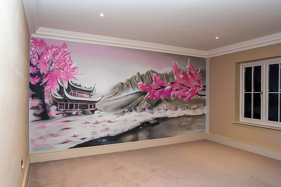 Oriental wall murals for Home