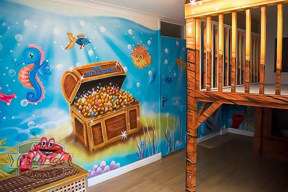 Fantastic under the sea mural