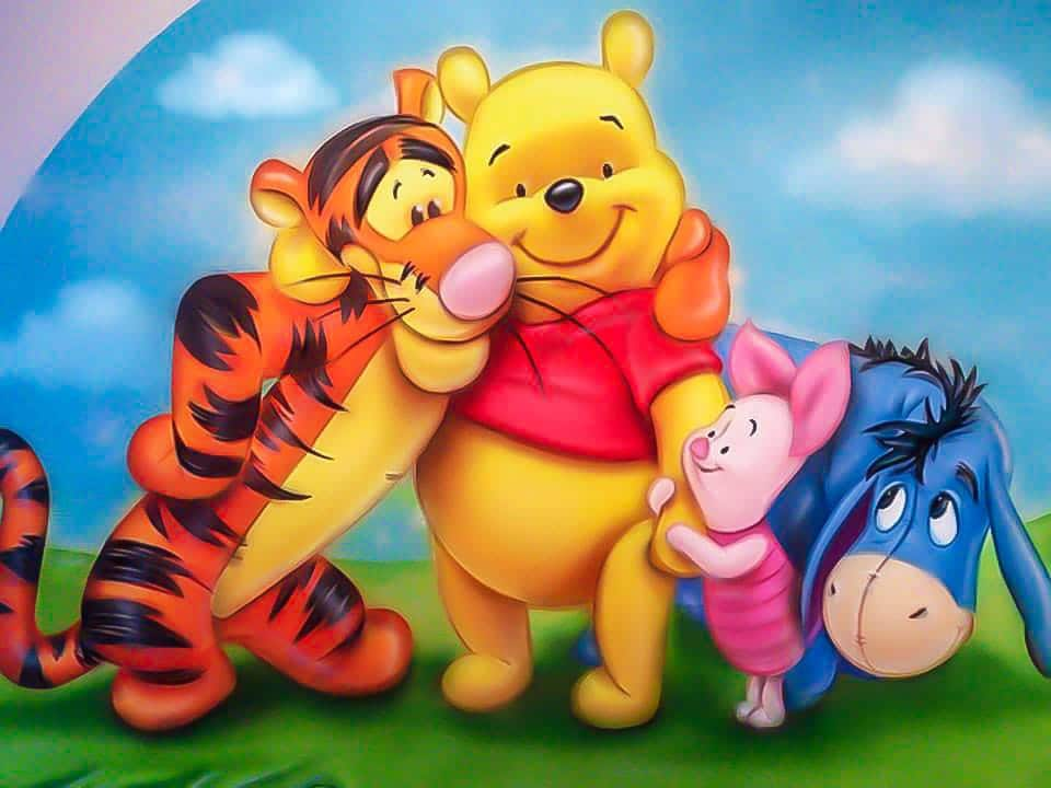 Winnie the Pooh mural for babies