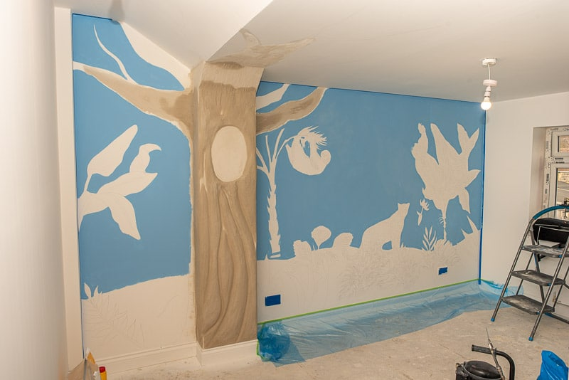 Background for wall mural