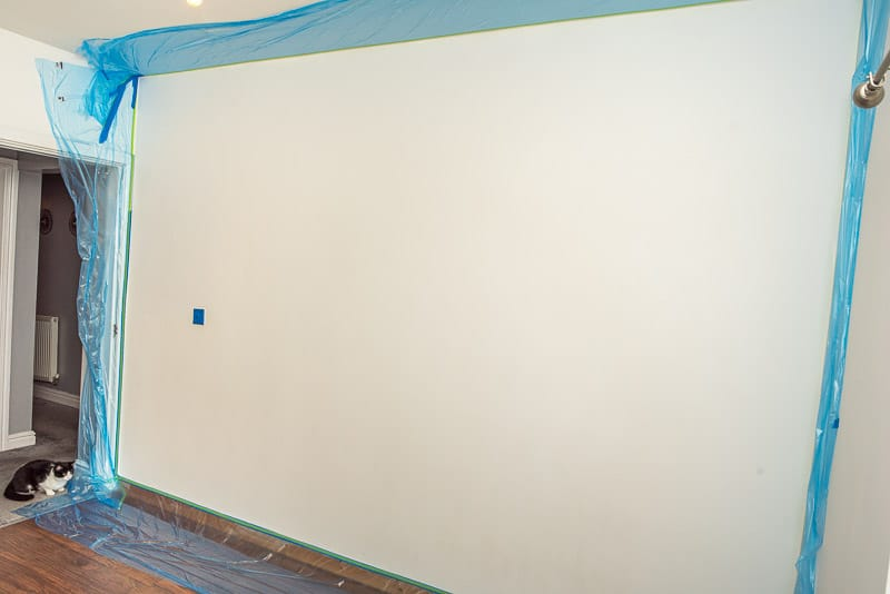 Wall before painting mural