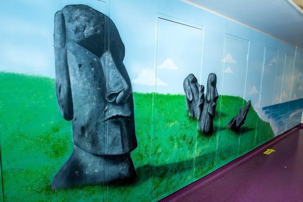 Aku tongariki Easter Island wall mural