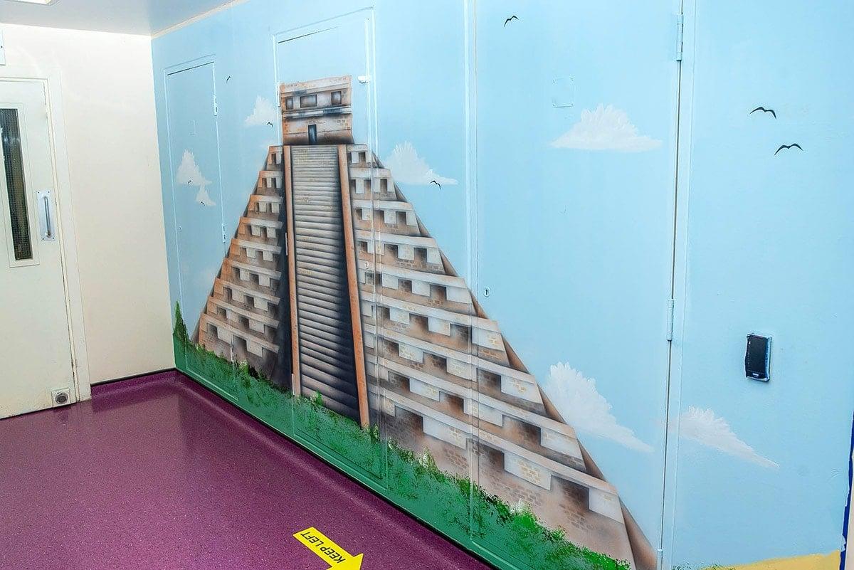 Chichen Itza Murals for office