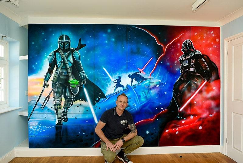 Star Wars Mural and Mural Artist
