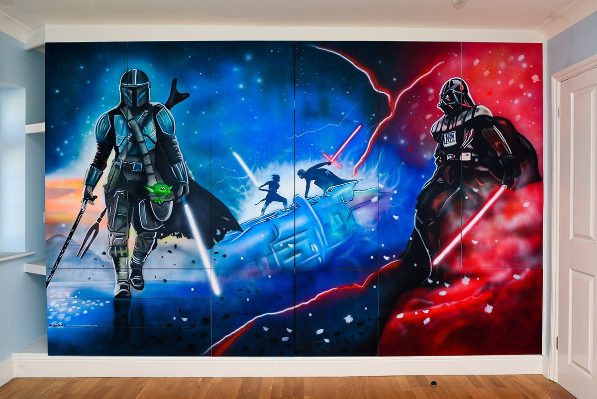 Star Wars Hand Painted Wall Mural