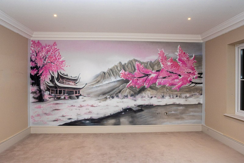 Japanese wall mural