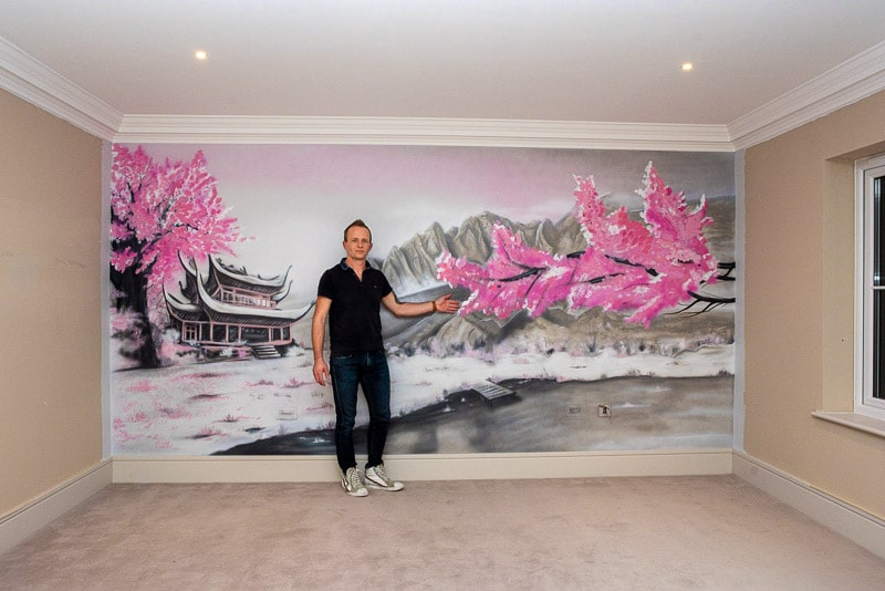 Hand painted Murals on the wall